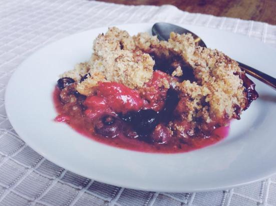 Raspberry & Blueberry Crumble
