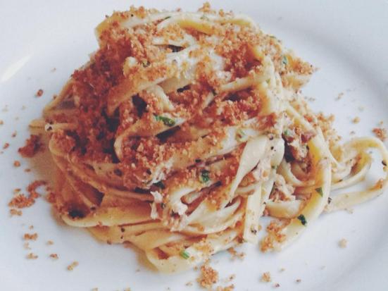 Lemon-Garlic Sardine & Tuna Fettuccine