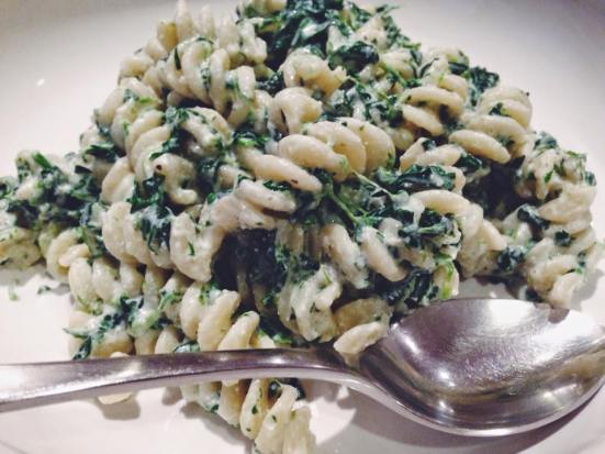 Fusili with Spinach and Ricotta